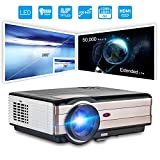 HD Movie Projector 1080p Outdoor Indoor 3500 Lumens, 200'' Video Projector Full HD 1280x800, Home Theater Projector Dual HDMI USB for Laptop iPhone Smartphone Mac Game with Speaker 50,000hrs Led Lamp