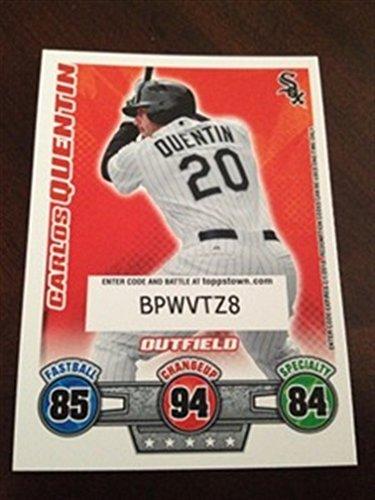 Sox 2009 Team Set (2009 Topps Attax SP (Code) Carlos Quentin White Sox)