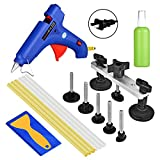 AUTOPDR 11Pcs DIY Pops a Dent Auto Car Body Paintless Dent Repair Tools for Hail Damage Car Dent Removal Remover Kits Dent Puller Bridge with Hot Glue Gun Sticks (11Pcs Bridge Tool)