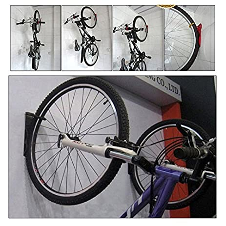 Nexify Wall Mounted Bicycle Rack With Hooks And Screws   Garage Storage Bike  Holder