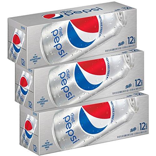 Diet Pepsi Soda, Fridge Pack Bundle, 12 fl oz, 36 (Club Soda Diet)