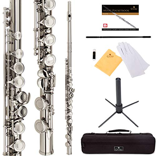 Cecilio Beginner Student C Flute (Nickel Plated)