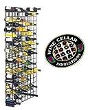 Black Metal Lattice 152-Bottle Storage Wine Rack For Sale