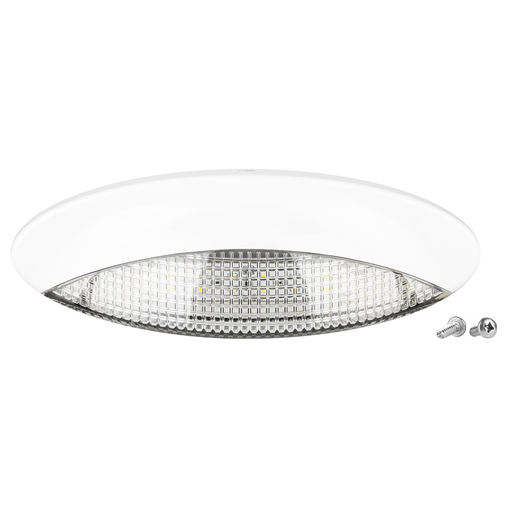 Amazon.com LED Euro Style RV Porch Light - White Cover and Clear Lens - Enjoy Clear Bright Nights With This Low Profile Oval Porch Light Automotive  sc 1 st  Amazon.com & Amazon.com: LED Euro Style RV Porch Light - White Cover and Clear ... azcodes.com