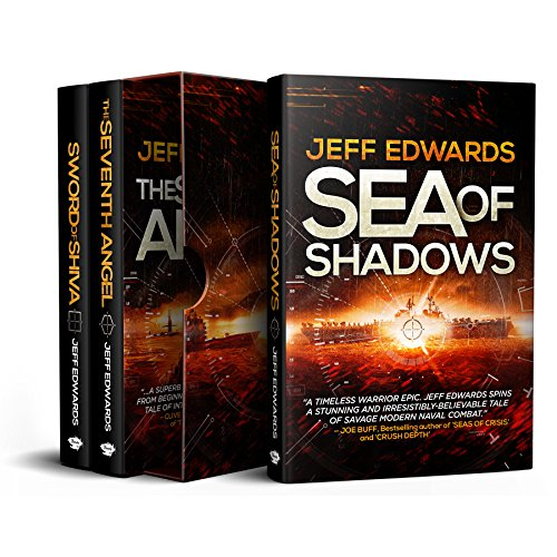 Jeff Edwards Military Thriller 3-Book Box Set (USS Towers Series): Sea of Shadows; The Seventh Angel; Sword of Shiva]()