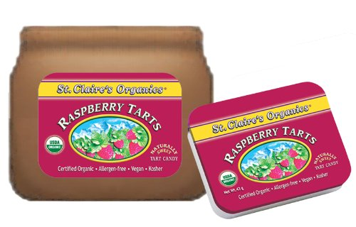 St. Claire's Organics Raspberry Tarts, 8 oz Bulk Bag (Lozenges)
