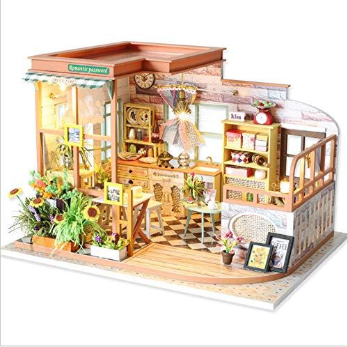 precios razonables YELLO Miniatura De La Casa De Muñecas Muñecas Muñecas con Muebles, Casa De Madera Hecha A Mano Modelo De Construcción Loft Creativo Juguetes Educativos Regalo Montado A Mano Romántico Muñeca  salida