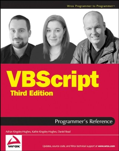- VBScript Programmer's Reference