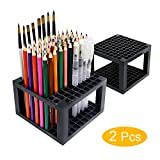 96 slots Pencil Holder - Desk Stationary Standing Organizer Holder, Perfect for Pen/Pencil, Paint Brush, Gel Pen, and More by WeiBonD (2 Packs)