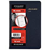 """AT-A-GLANCE Weekly Appointment Book / Planner, January 2018 - December 2018, 4-7/8"""" x 8"""", Blue (7007520)"""