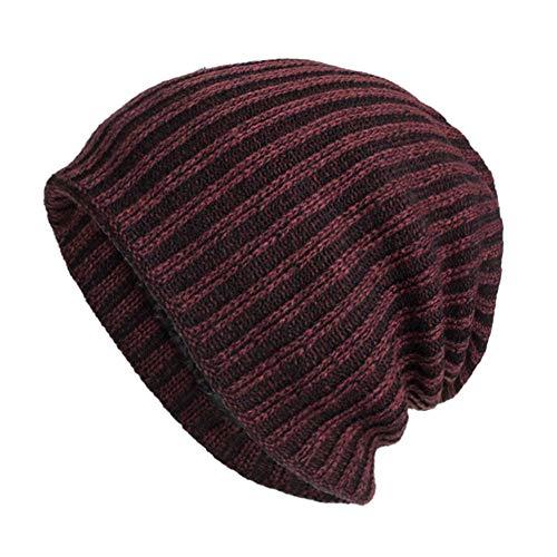 Casual Beanie Hat Women Men BCDshop Braided Baggy Warm Winter Knitted Hat Cap(Wine)