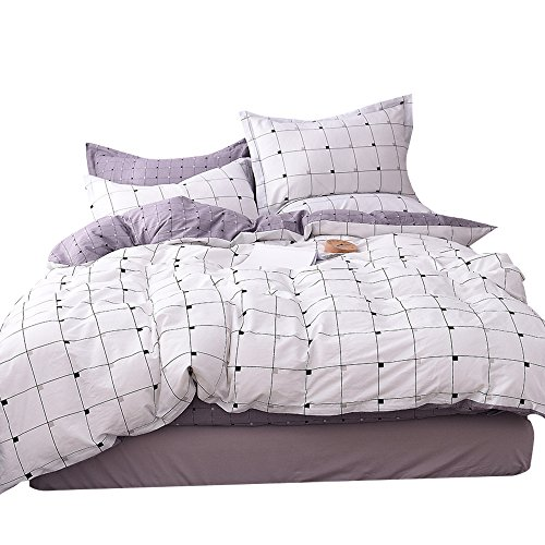 OROA light and transportable Cotton Duvet Cover Sets for Kids Teens Adults Bed relatively easy to fix 3 Piece Grils Boys Plaid home Textile Bedding Set by wil of  Comforter Cover Pillow Shams (Twin, type 6) Black Friday & Cyber Monday 2018