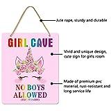 Uflashmi Girl Bedroom Decor Girl Cave Sign No Boys