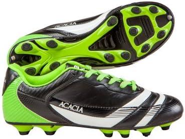 7b48524a9d12 Amazon.com: ACACIA Youth Thunder Soccer Shoes, Black/Lime, 1Y ...