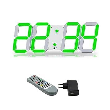 Nouveau mode Trois dimension Moderne Télécommande LED Horloge ...