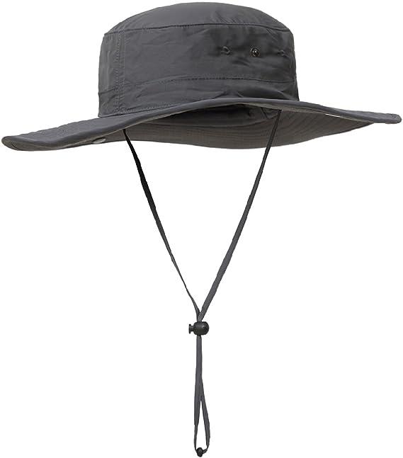 Felt Brim Bucket Fishing Hiking Hat Wide Anti UV Sun Visor Cowboy Mesh 2020 Cap