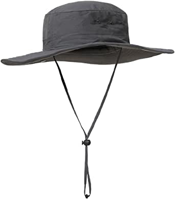 Surblue Wide Brim Cowboy Hat Collapsible Hats Fishing/Golf Hat Sun Block UPF50+