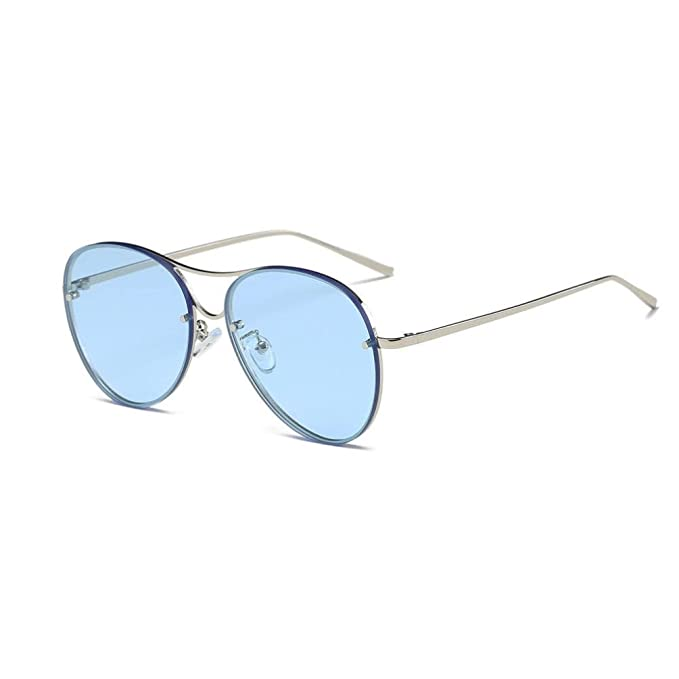 b67e680fca21 HLHN Herren Damen Vintage Retro Großer Rahmen Frosch Sonnenbrille ...