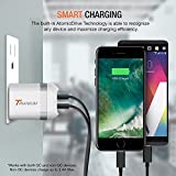 Trianium Wall Charger 2-Port USB 24W Universal Travel Charger [Batman Style][Foldable Plug] For Phone,iPhone x 8 7 7s Plus 8 6 6s,Galaxy s8 s7 s6 Edge Note 8,LG,HTC Blackberry, Bluetooth Speaker,iPad