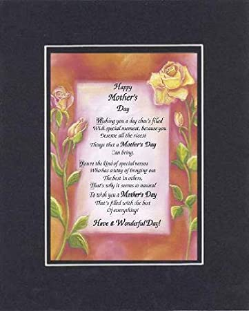Amazon Com Poem For A Friend For Mother Day Happy Mother S Day