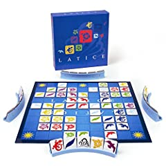 Latice combines simple rules with evolving game complexity for a game that's easy to learn, fast to play (15-20 minutes) and with strategic potential to last a lifetime.        Be the first player or team to play all of your tiles. Pla...