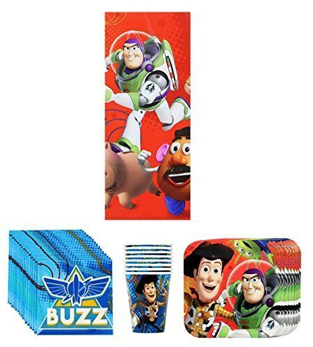 Disney Pixar Toy Story Birthday Party Supplies Pack Bundle Kit Including Plates, Cups, Napkins and Tablecover - 8 Guests for $<!--$14.56-->