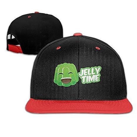 KKAIYA Kids Jelly Time Falt Hat Snapback Baseball Cap