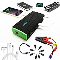 Indigi® NEW Heavy Duty Portable Power Bank & Emergency Car Jump Starter Battery Booster SOS Flash Light Hiking Camping Travel Kit!