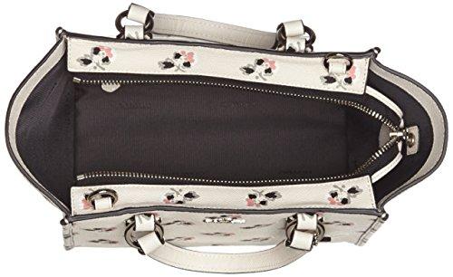 1793f8496522e Coach Mini Crosby Carryall in Printed Crossgrain Leather in Silver ...