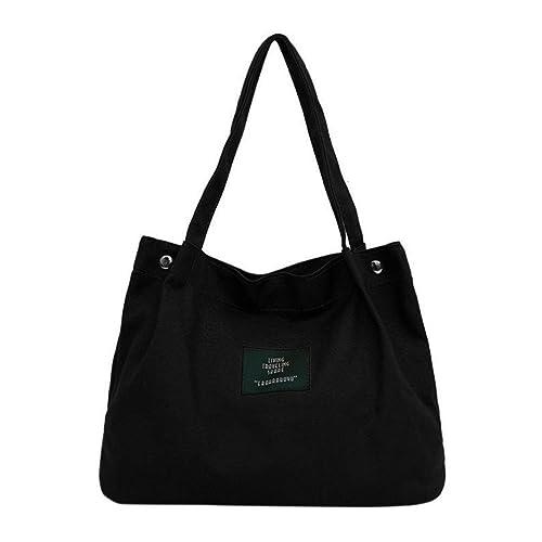 Shoppers y bolsos de hombro Koly Chicas Mujer Retro Hembra Sencillo Carta Lona Bag Crossbody Hombro