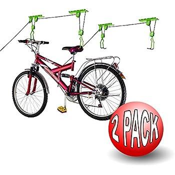 Bike Lane Products Bicycle Storage Lift Bike Hoist 100Lb Capacity Heavy Duty 2 Pack Green  sc 1 st  Amazon.com & Amazon.com : Bike Lane Products Bicycle Storage Lift Bike Hoist ...