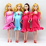Supershopping Pregnant Doll Mom Doll with Removable Baby Best Friend Play for Girls Educational Toy,Pink