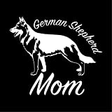 German Shepherd Mom Dog Vinyl Window Dog Decal Sticker for Cars, Trucks, Laptops, Etc.