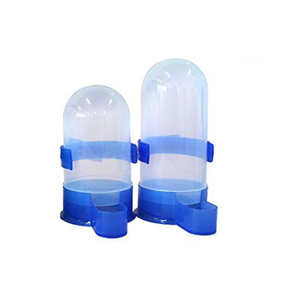 Yuccer Bird Feeder, Plastic Feeding Containers for Birds Automatic Water-drinking Dispenser in Birdcage 2 Pack (Blue)