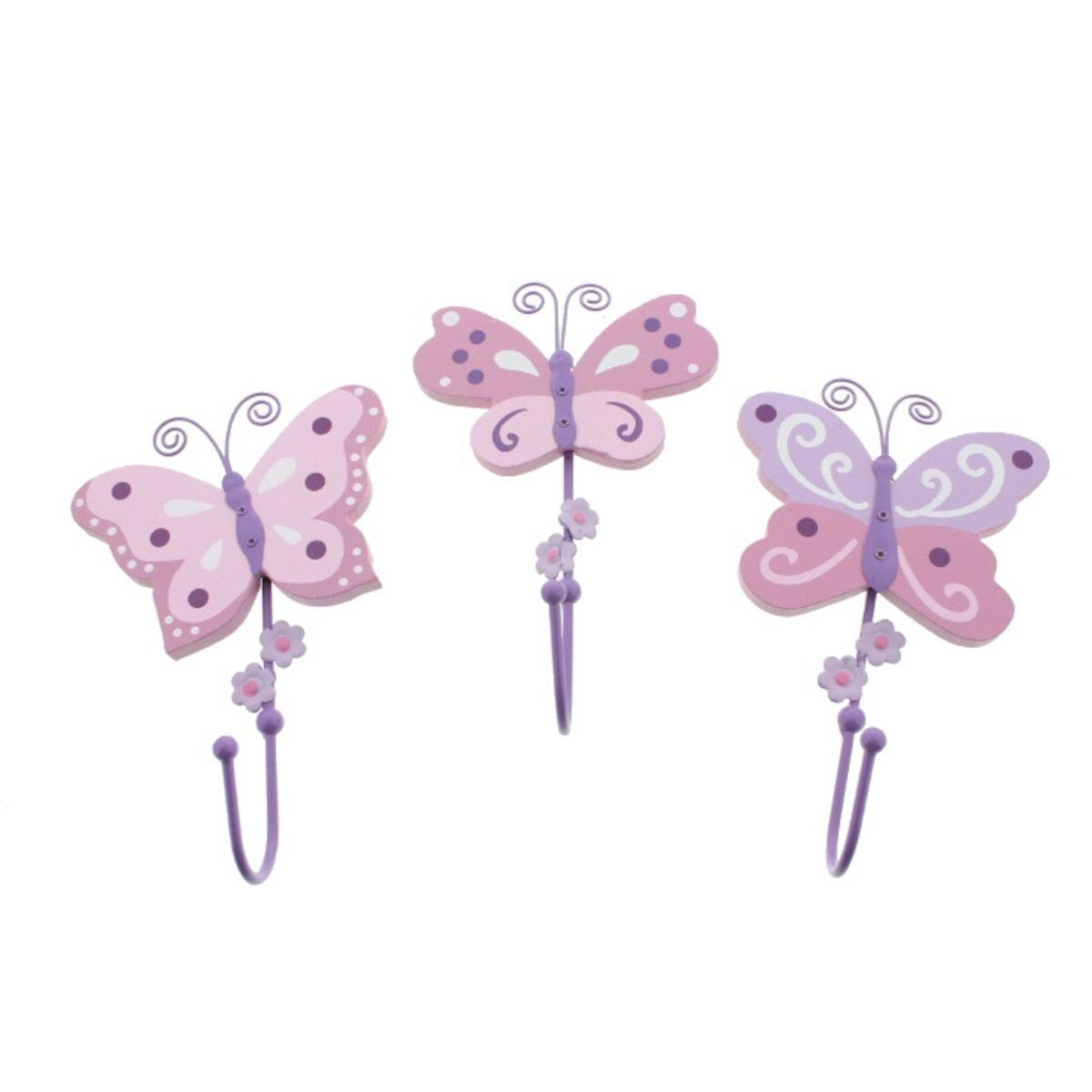 Koala Baby 3PC Nursery Butterfly Wall Decor Pink O/S