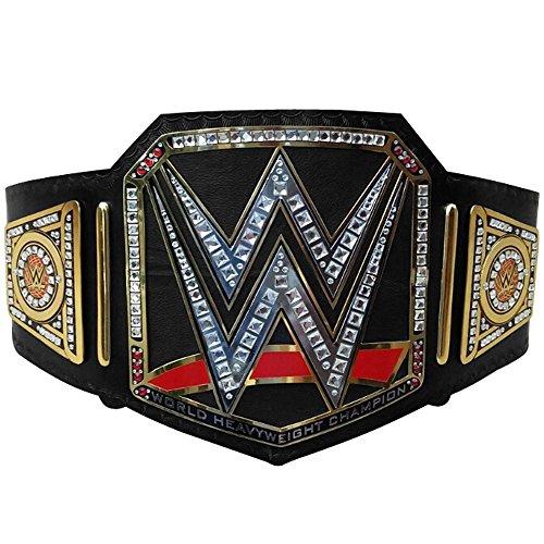 Brand New WWE World Heavy Weight Championship Belt Adult Replica Genuine Leather Title Belts Black ()