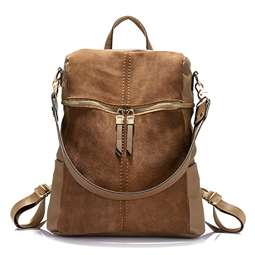 Willie Marlow Women Backpack Nubuck Leather+PU Casual Large