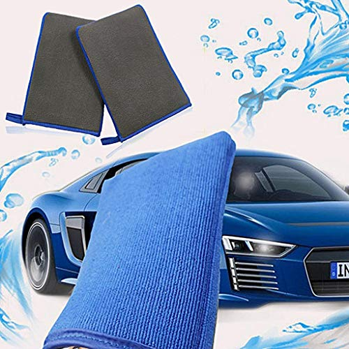 Ultimate Car Wash Mitt - 1 Pack Large Size - Premium Volcanic Mud Clay Mitt Wash Mitt - Wash Glove - Lint Free - Scratch Free-Auto Care Cleaning Towel Microfiber Sponge Pad