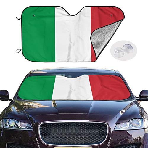 Tyrone Hughes UV Rays Sun Visor Protector Vehicle Cool Heat Shield Shade Flag of Italy Car Windshield Sun Shade Blocks (Tyrone Ray)