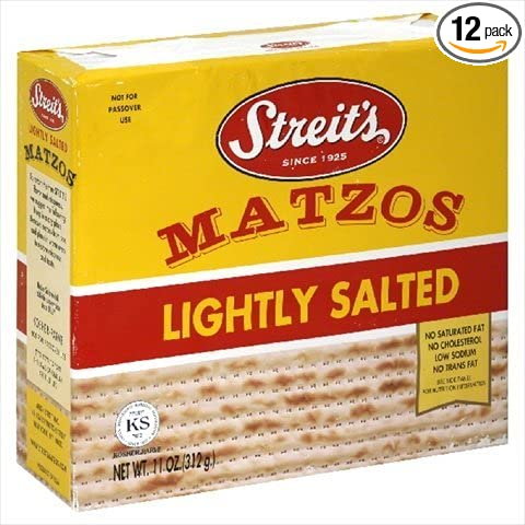 Streits Lightly Salted Matzo, 11 Ounce - 12 per case. Streit' s