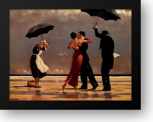 Singing Butler 36x28 Framed Art Print by Vettriano, Jack