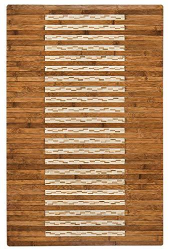 - Anji Mountain Eco Friendly Digs Bamboo Kitchen & Bath Mat (Walnut, 24
