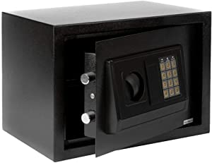 Security Safe Box Fireproof and Waterproof Home Safe Lock Box, Cabinet Safes with Keypad 0.5 Cubic Feet Steel Safe Box for Home & Office Protect Cash, Money, Jewelry, Gun (13.8