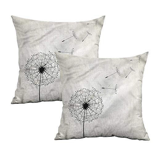 Khaki home Dandelion Square Kids Pillowcase Flying Seeds Flower Square Personalized Pillowcase Cushion Cases Pillowcases for Sofa Bedroom Car W 16