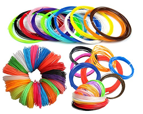 NEW 26pc 3D Pen Refills Filament - 1.75mm ABS 520 Linear Feet - 20 Foot / Colour -26 Different Colors Super Pack. 6 Glow In The Dark Colors. The possibilities are Beyond (Green Morph Mask)