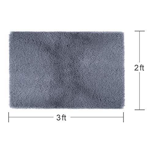 LOCHAS Ultra Soft Fluffy Rugs Faux Fur Sheepskin Area Rug for Bedroom Bedside Living Room Carpet Nursery Washable Floor Mat 3x5 Feet Purple