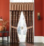 Croscill Pondera Tailored Window Valance, 88″ in. x 17″, Brown/Gold