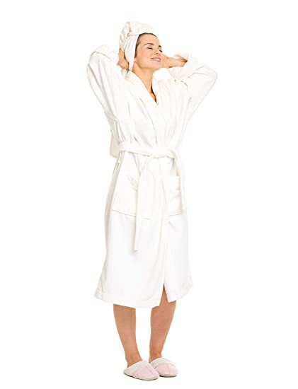 464e377eda Amazon.com  OrganicTextiles Royal Spa Terry Cloth Bathrobe