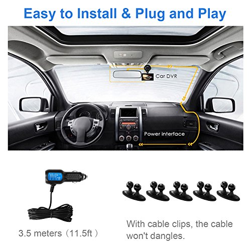 "MiniShark Dash Cam Full HD 1080P Car Blackbox Car Dash Cams DVR Dashboard Camera 3"" LCD Screen Built In WDR G-Sensor Motion Detection Parking Monitor Loop Recorder Night Vision"