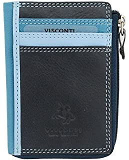 Amazon.com: Visconti Mujer piel Suave cartera Monedero: Clothing